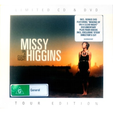 Missy Higgins - 'On A Clear Night' Limited CD and DVD Tour Edition