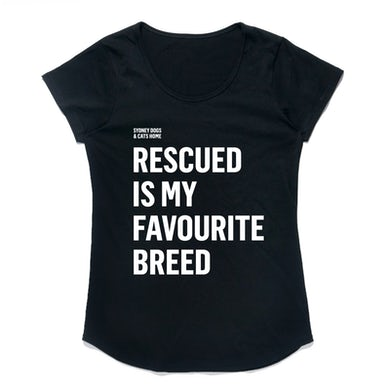 Sydney Dogs and Cats Home - Favourite Breed Black Ladies Tee