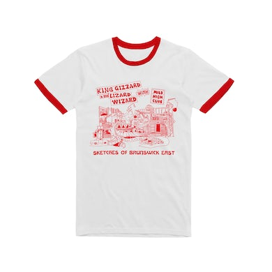 King Gizzard & The Lizard Wizard Sketches Of Brunswick / Red Ringer T-shirt