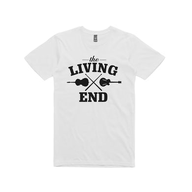 The Living End Guitar /  White T-shirt