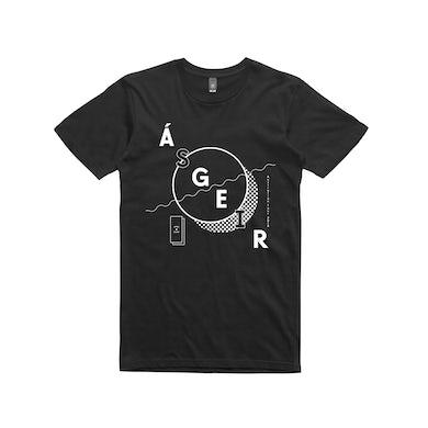 Asgeir Circle / Black T-shirt