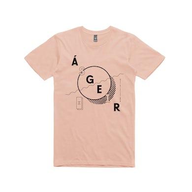 Asgeir Circle / Pale Pink T-shirt
