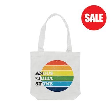 Angus & Julia Stone Rainbow / White Tote bag