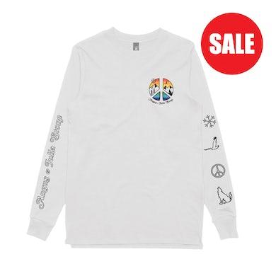 Angus & Julia Stone Peace / White Longsleeve T-shirt