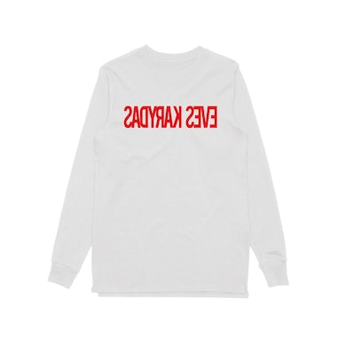 Eves Karydas Backwards Logo / White Longsleeve