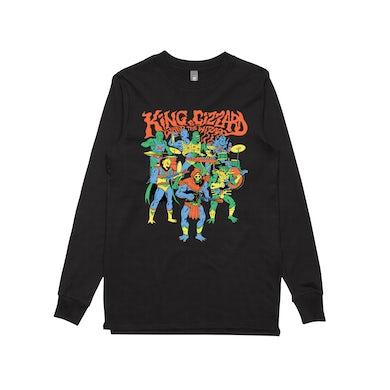 King Gizzard & The Lizard Wizard Masters / Black Longsleeve T-shirt