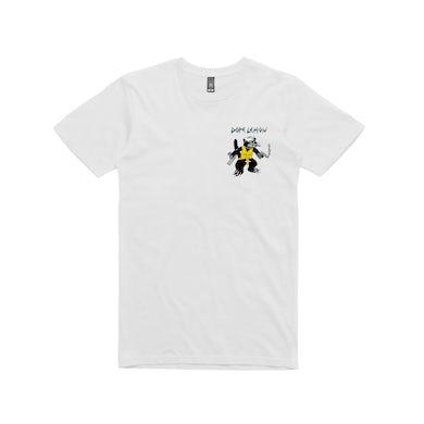 Dope Lemon Gun Cat / White T-shirt