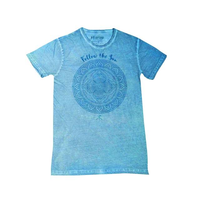 Xavier Rudd Follow The Sun Blue Acid Wash T Shirt