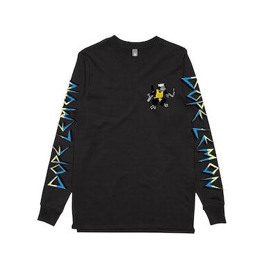 Dope Lemon Gun Cat / Black Longsleeve T-shirt