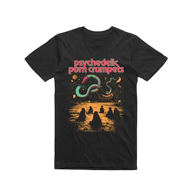 Psychedelic Porn Crumpets Space Snake / Black T-shirt