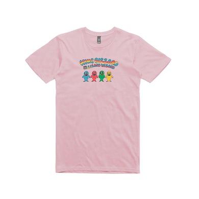 King Gizzard & The Lizard Wizard Fish Family / Pink T-shirt