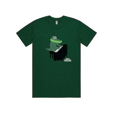 King Gizzard & The Lizard Wizard Gator Piano / Green T-shirt