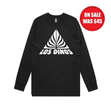 Last Dinosaurs Triangle / Black Longsleeve T-shirt