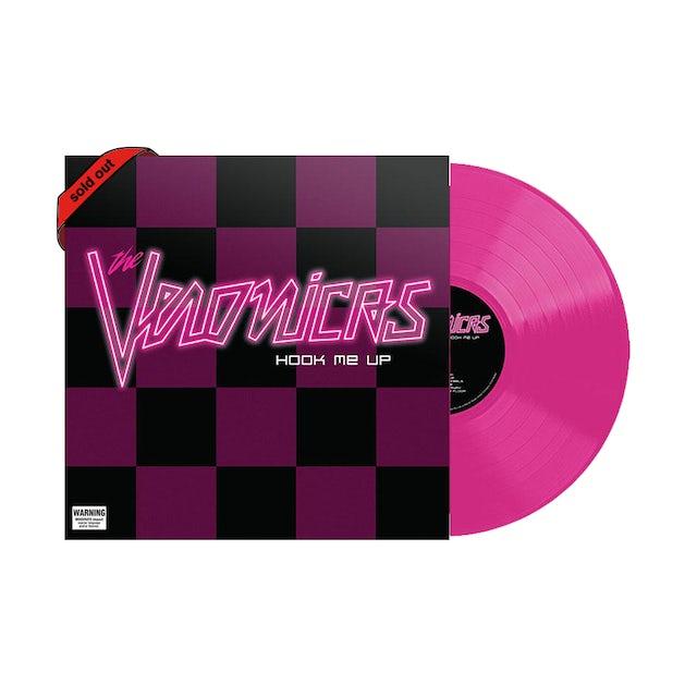 "The Veronicas Hook Me Up / Fluro Pink Signed 12"" vinyl"