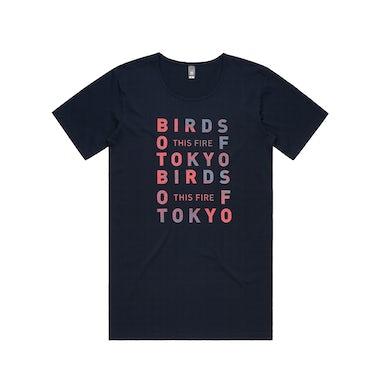Birds Of Tokyo This Fire / Navy Scoop Neck T-shirt