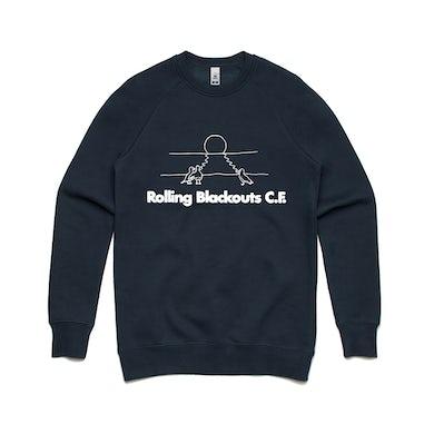 Rolling Blackouts Coastal Fever Gulls / Navy Crew Sweater