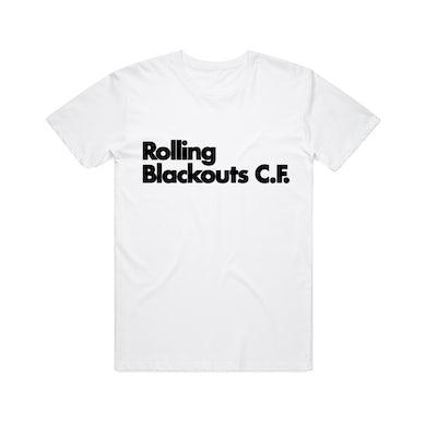 Rolling Blackouts Coastal Fever Font / White T-shirt