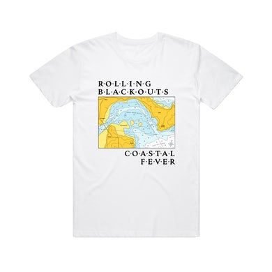 Rolling Blackouts Coastal Fever Maps / White T-shirt