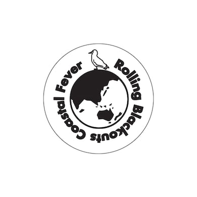 Rolling Blackouts Coastal Fever Sticker / Black and White 10cm