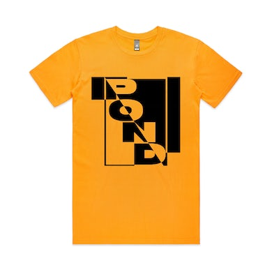 Pond Box Logo / Gold T-shirt