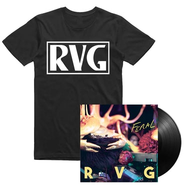 """Feral' 12"""" Vinyl and 'VHS' Tee Bundle"""