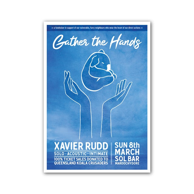 Xavier Rudd Gather The Hands / Screen Printed A2 Poster