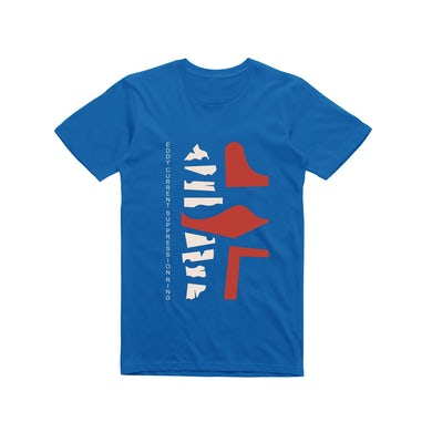 Eddy Current Suppression Ring Abstract / Royal Blue T-shirt