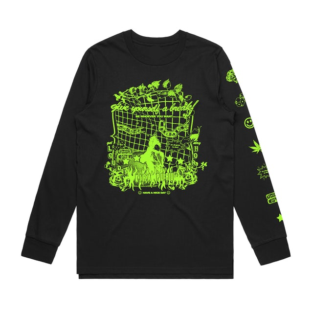 Kira Puru Affirmation / Black Long Sleeve T-shirt