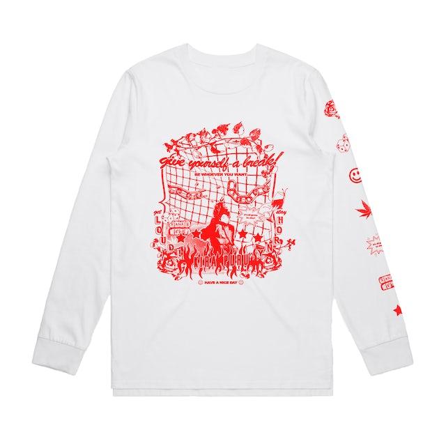 Kira Puru Affirmation / White Long Sleeve T-shirt