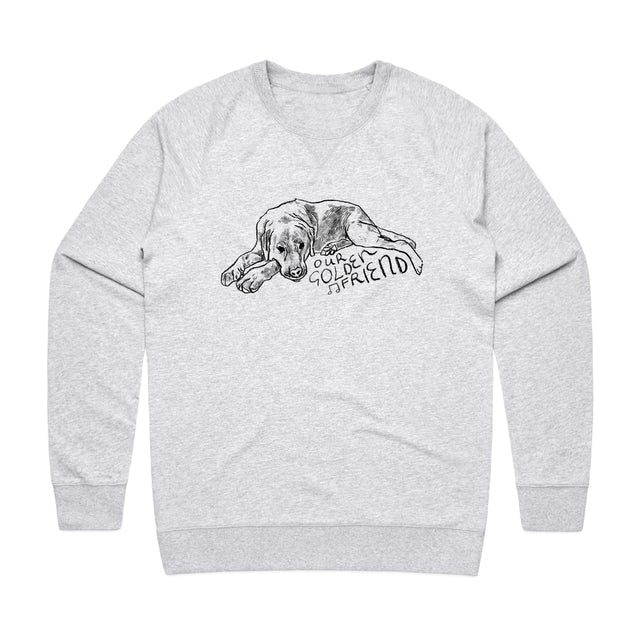 Our Golden Friend / Grey Crew Sweater