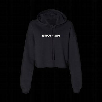 Bronson Womens Bolt Cutter Crop Hoodie / Black