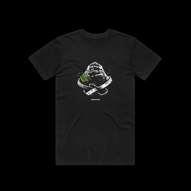 Bronson Wrapped Hands T-Shirt / Black