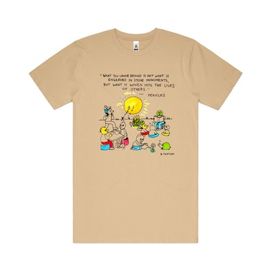 Bjenny Montero What you leave behind / Brown T-shirt