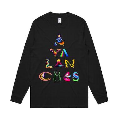The Avalanches Pyramid / Black Long sleeve T-shirt