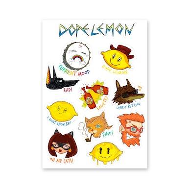 Dope Lemon A4 Sticker Sheet