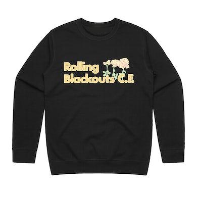 Rolling Blackouts Coastal Fever Flower / Black Crew Sweater
