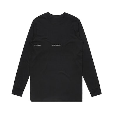 First Contact Des. 2 / Black Long Sleeve Tee