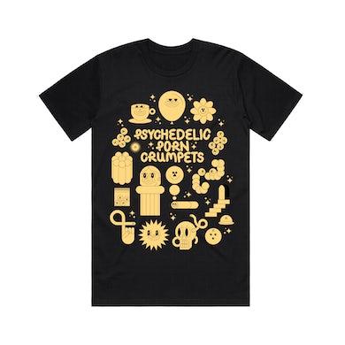 Psychedelic Porn Crumpets Shyga! / Black T-shirt