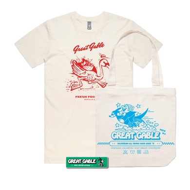 Great Gable Tee, Tote + Sticker Bundle