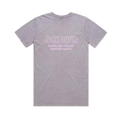 Jack River Logo / Stonewash Orchid T-shirt
