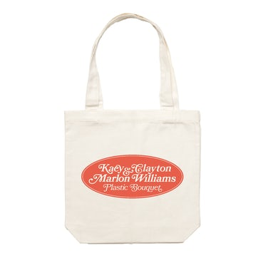 Kacy & Clayton and Marlon Williams / 'Plastic Bouquet' Cream Tote Bag