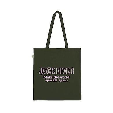 Jack River Make The World Sparkle Again / Moss Green Tote Bag ***PRE-ORDER***