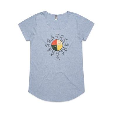 Xavier Rudd Spirit Bird / Womens Blue T-Shirt