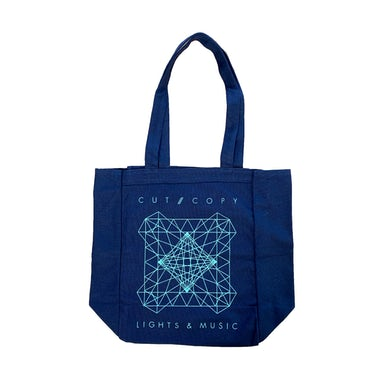 Cut Copy Lights and Sound / Blue Tote Bag