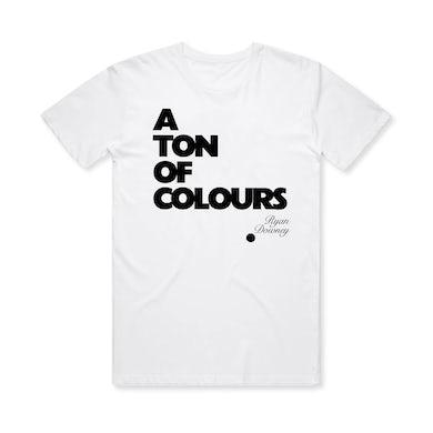 Ryan Downey A Ton Of Colours / White T-Shirt