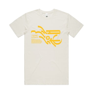 Mildlife Mineral T-shirt / Natural & yellow