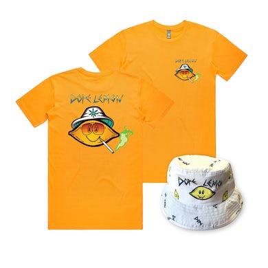 Dope Lemon Fear and Loathing Tee / Bucket Hat Bundle