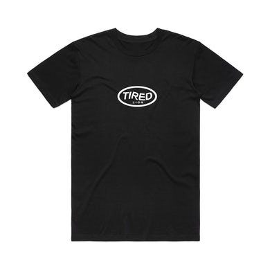 Tired Lion Logo / Black T-shirt