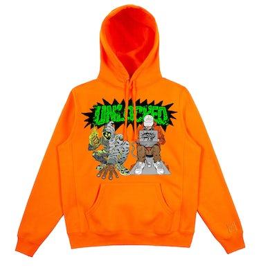 Denzel Curry & Kenny Beats - Unlocked 1.5 Safety Orange Hoodie***PRE-ORDER***