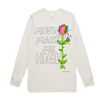 The Avalanches Music Makes Me High / Natural Long Sleeve T-Shirt